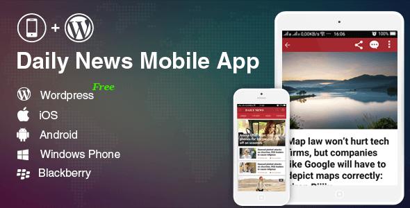 Full Mobile Application for Wordpress News, Blog, Magazine Website - Wordpress Mobile App