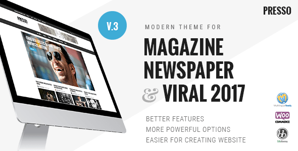 PRESSO – Modern Magazine / Newspaper / Viral Theme