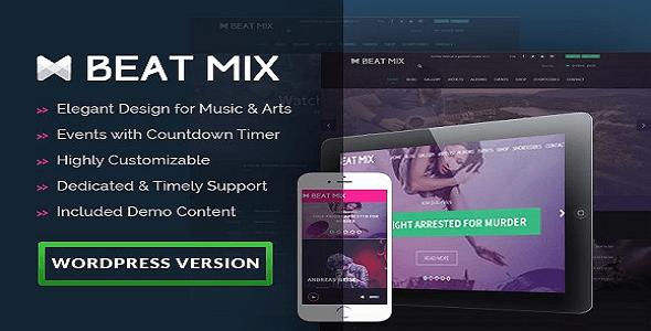 Beatmix Music and Band WordPress