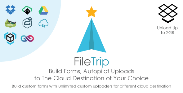 Filetrip | Easily upload to Dropbox + Google Drive + FTP + WordPress
