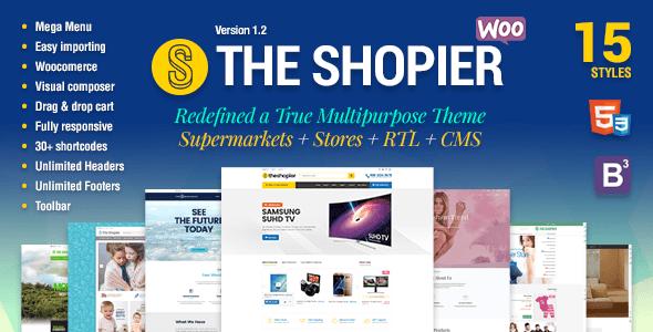 Shopier - Responsive Multipurpose WordPress WooCommerce Theme